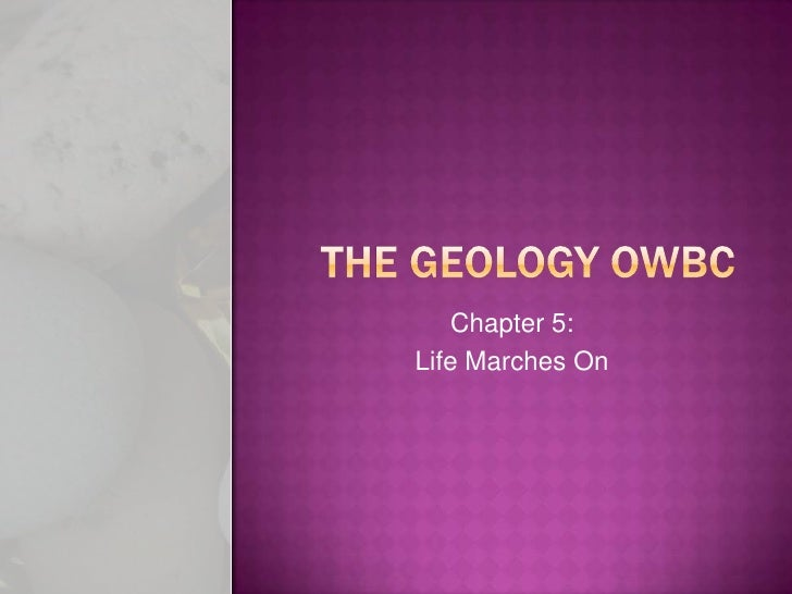 The Geology OWBC: Chapter 5