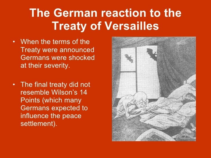 a report on the treaty of versailles Included among the following documents is the text of the versailles treaty, plus the text of prominent us opposition to president wilson's enthusiastic backing for a post-war league of nations.