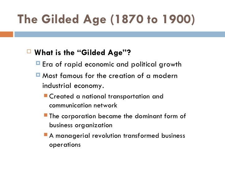 big business in the gilded age essay