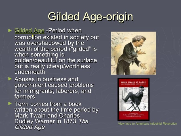 gilded age essays