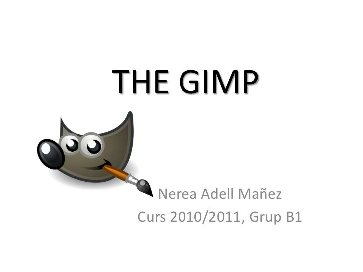 THE GIMP<br />Nerea AdellMañez<br />Curs 2010/2011, Grup B1<br />