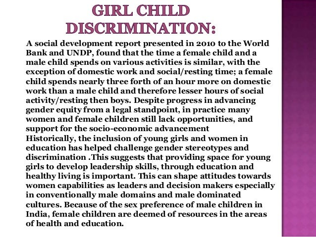 Essay on education of girl child is a burden for the motion