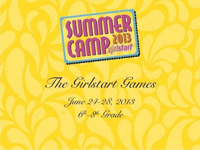 The Girlstart Games Summer Camp 6th-8th grade Wk 3
