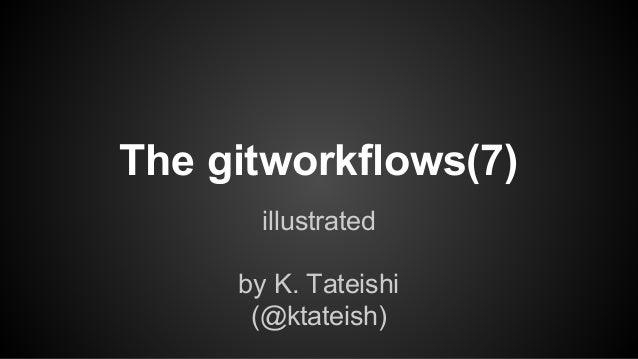 The gitworkflows(7) illustrated by K. Tateishi (@ktateish)