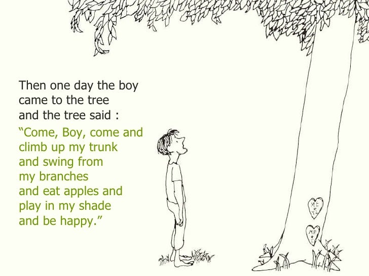The Giving Tree Quotes | Quote Addicts The Giving Tree And The Tree Was Happy