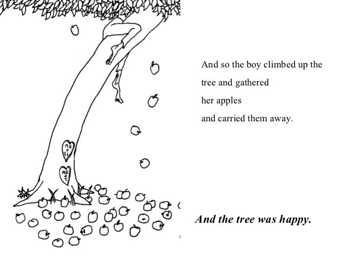 And the tree was happy  The Giving Tree And The Tree Was Happy
