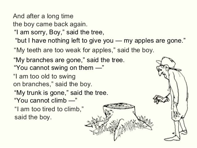 essay on the giving tree