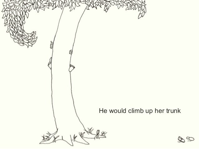 an arguement about the giving tree by shel silverstein Shel silverstein's fable about giving (not always wisely, but deeply) and taking ( often without thought but almost always with profound consequences) will stay forever fixed in your mind it is deservedly one of the best-selling children's books of all time both the text and the line drawings are like haiku in their potent simplicity.