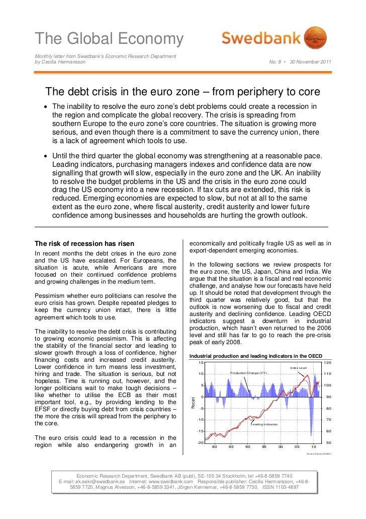 The Global Economy No. 8 -  November 30, 2011