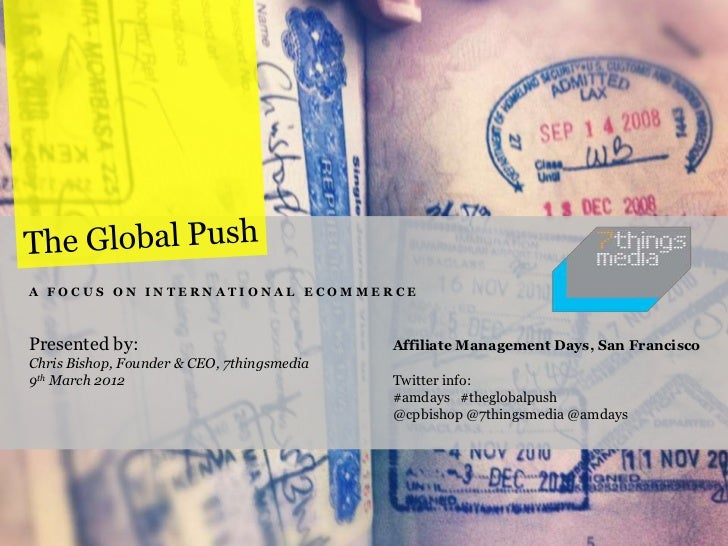 The Global Push - A Focus on International Ecommerce
