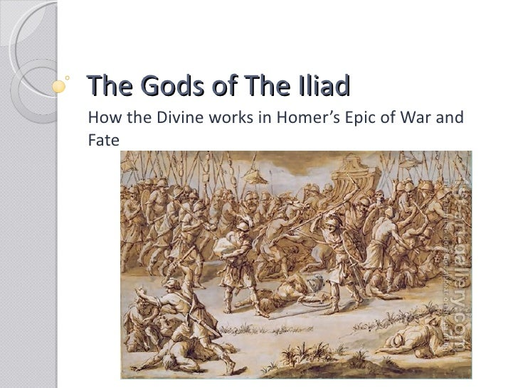 the fates and the gods and goddesses in homers iliad The impact of the god's on events in the iliad the role of fate  homer's portrayal of the greek gods  homer portrays the gods in the iliad in several.