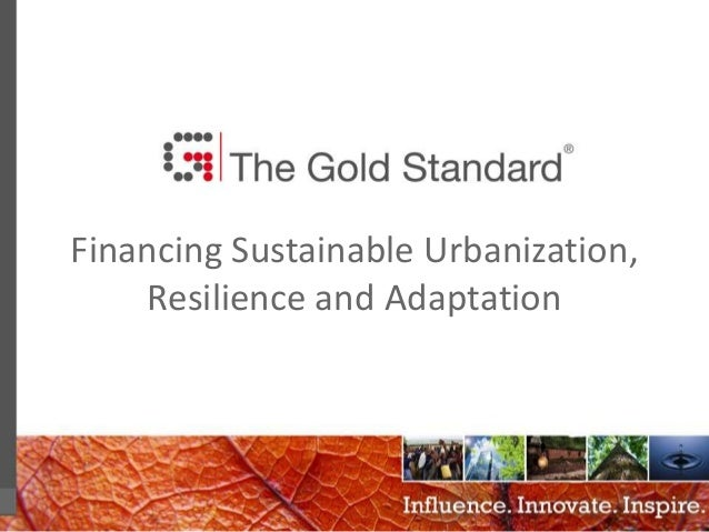 0 Financing Sustainable Urbanization, Resilience and Adaptation