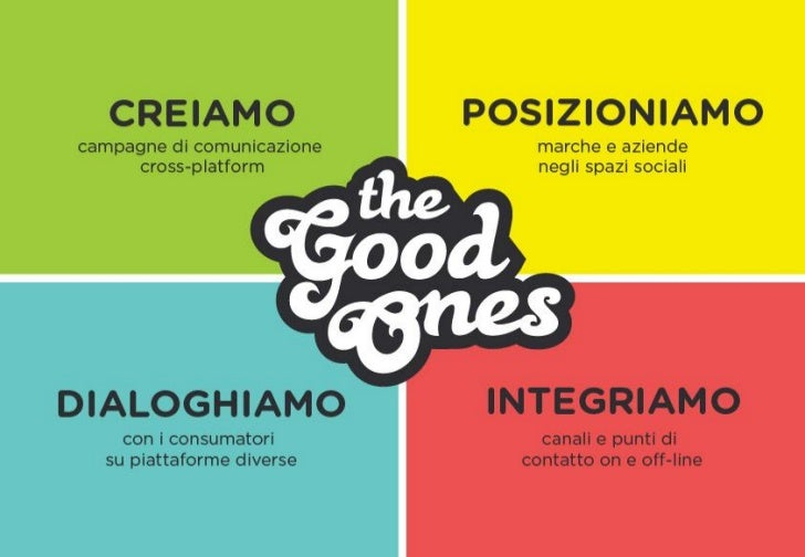 Presentazione TheGoodOnes Sett 2012