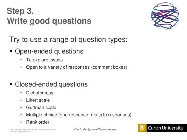 Good survey questions?