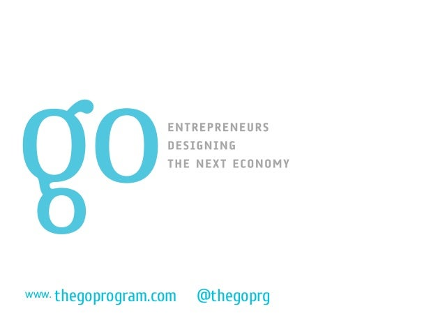 The GO Program: Design-driven Entrepreneurship program