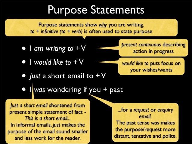 writing a statement of purpose