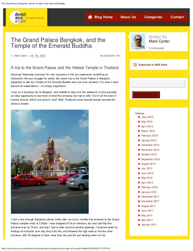 The Grand Palace Bangkok, and the Temple of the Emerald Buddhahttp://www.directasia.com/blog/travel/grand-palace-bangkok-a...