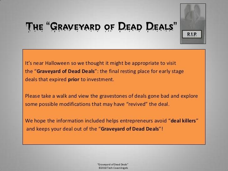 The Graveyard of Dead Deals