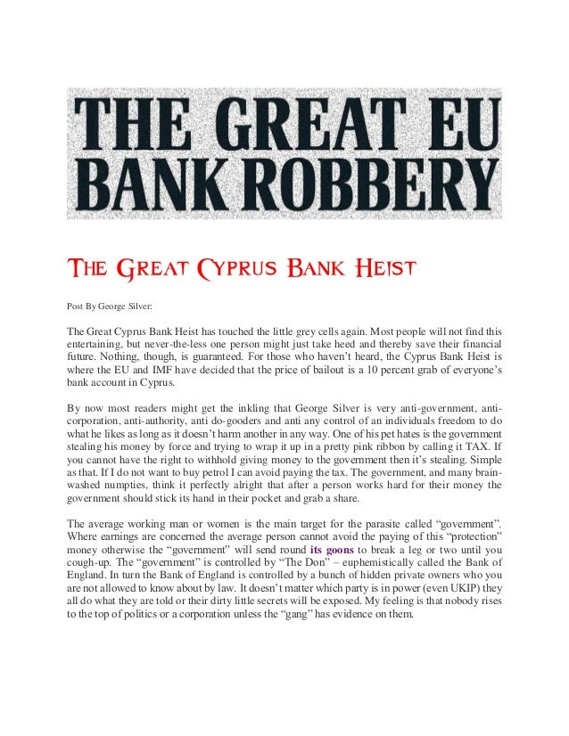 The great cyprus bank heist