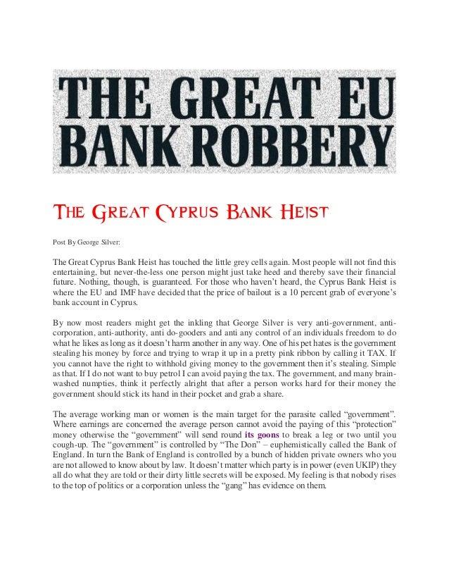 The great cyprus bank heist