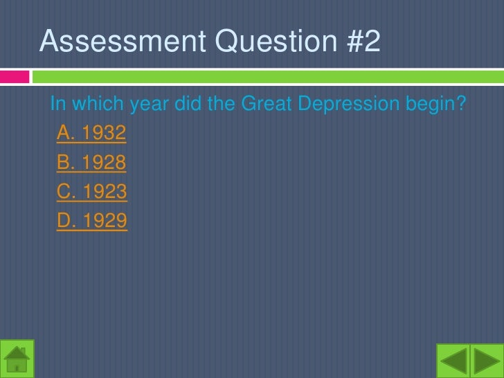 Why did the Great Depression begin?