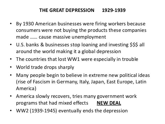 a study of the great depression and its global effect At its peak, the great depression saw nearly 10% of the mass effect of the the root cause of the great depression was a global over-investment in.