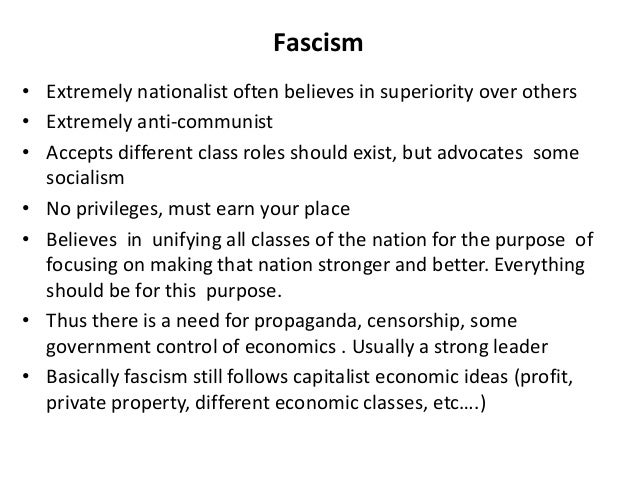 Fascism and The Great Depression?