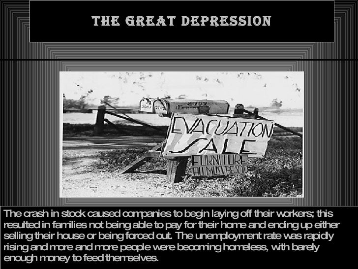 causes the great depression essay Free essay: by the summer of 1929 businesses were being piled one on top of another (mcelvaine 45) the reason for this speculation of the twenties has long.
