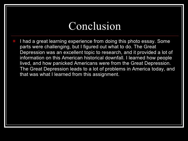 great depression essay