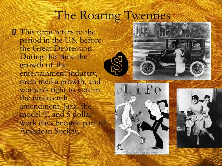 roaring twenties and the great depression essay