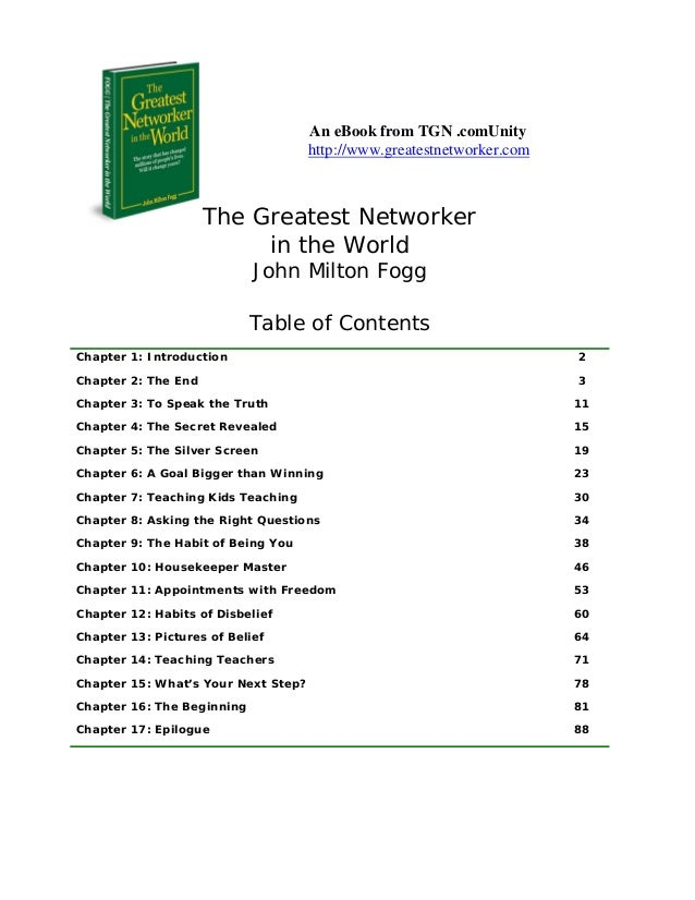 An eBook from TGN .comUnity                                     http://www.greatestnetworker.com                     The G...