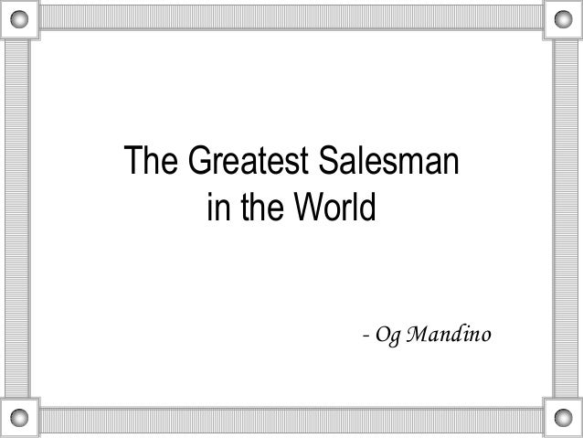 greatest salesman in the world book review