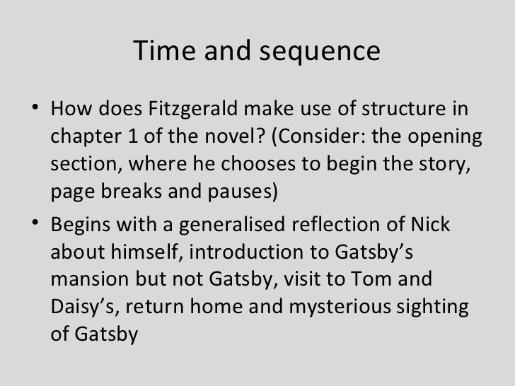 narrative structure in the great gatsby The great gatsby is a 1925 novel written by american author f scott fitzgerald that follows a cast of characters living in the fictional town of west and east egg on prosperous long island in the summer of 1922 the story primarily concerns the young and that the class structure is.