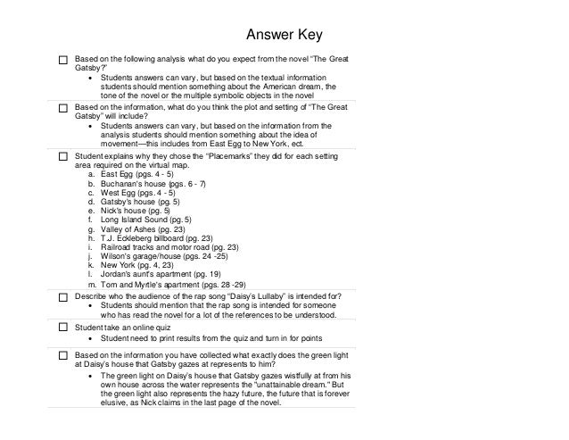 the great gatsby essay the american dream madrat co essay the great rh chord mymorningafter co the great gatsby study guide answer key chapter 7 the great gatsby study guide answer key pdf