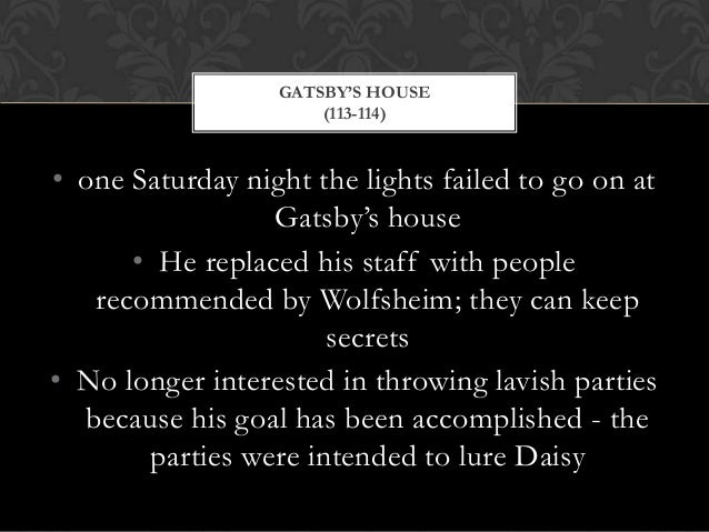 a summary of chapter 7 in the book the great gatsby The great gatsby chapter 6 summary by f scott fitzgerald at the beginning of this chapter a young reporter shows up at gatsby's door and asks him for a sta.