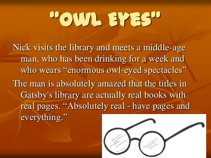 owl eyes quote gatsby