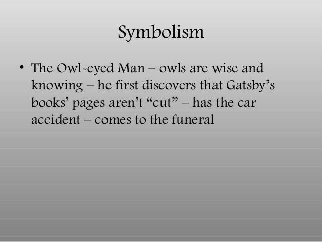 thesis on symbolism in the great gatsby