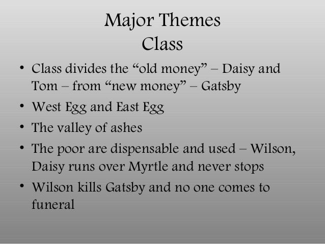 "Old Money vs New Money Great Gatsby From ""new Money"" – Gatsby•"