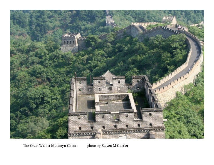 The Great Wall at Mutianyu China   photo by Steven M Cantler