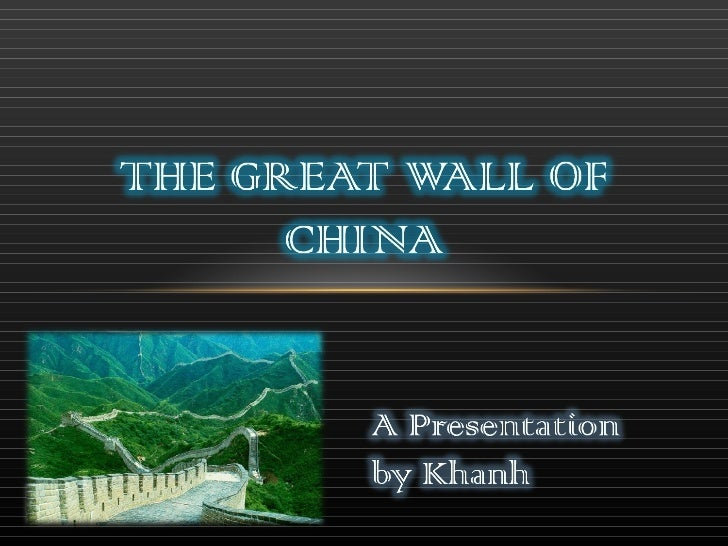 The great wall of china new version