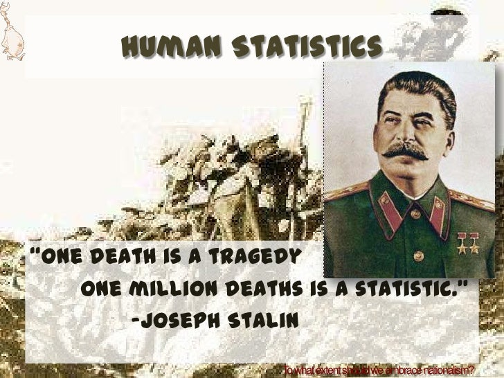 "Death Statistics Human Statistics""one Death is"