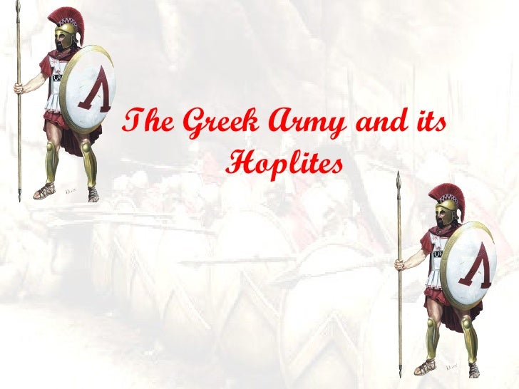 The Greek Army and its Hoplites