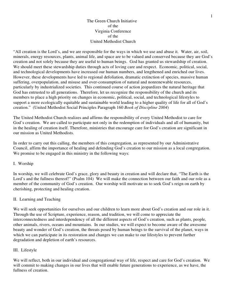 Green Church Initiative - Virginia Conference
