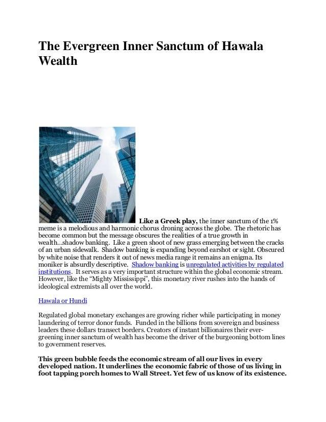 The green inner sanctum of wealth