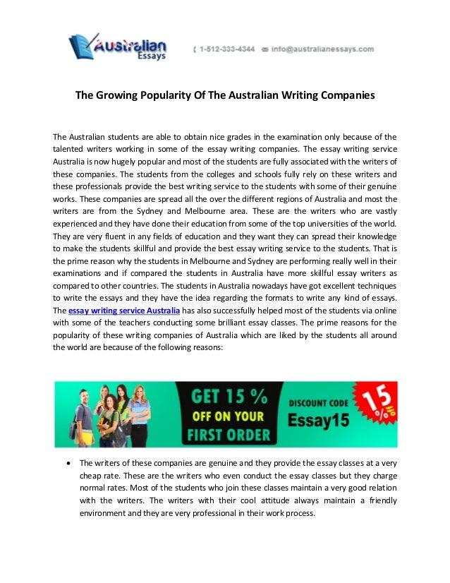 Writing companies