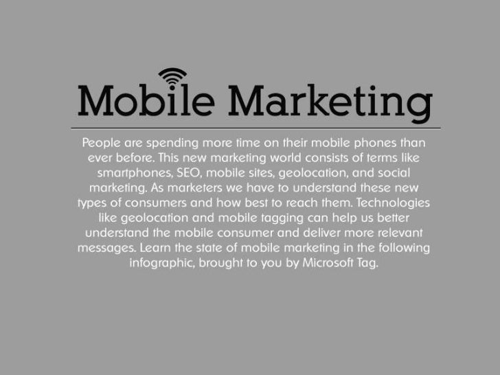 The growth of mobile marketing and tagging