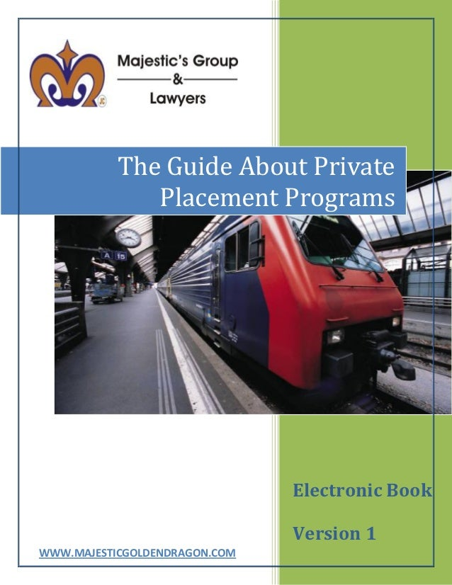 The Guide About Private              Placement Programs                               Electronic Book                     ...