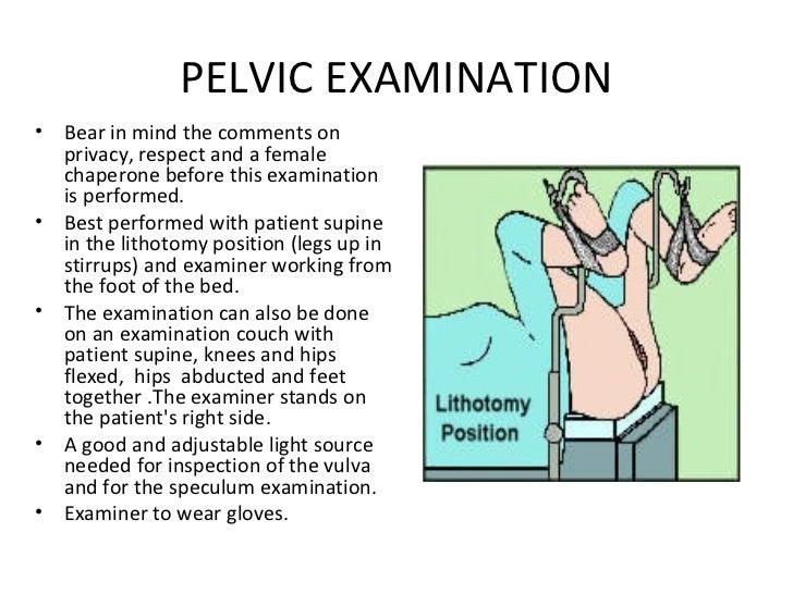 PELVIC EXAMINATION  Be...