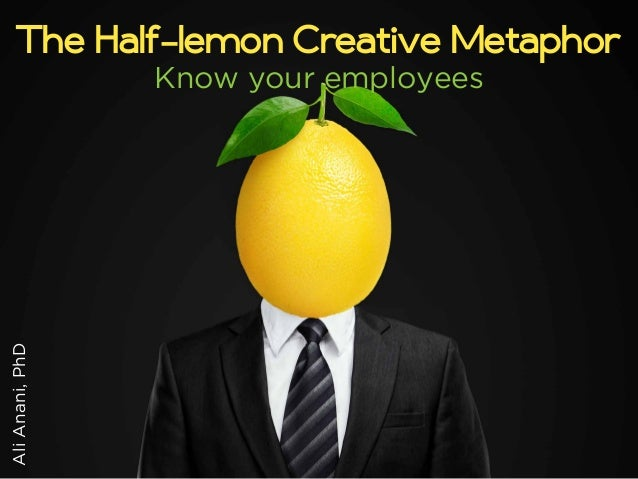 The Half-lemon Creative Metaphor  Ali Anani, PhD  Know your employees