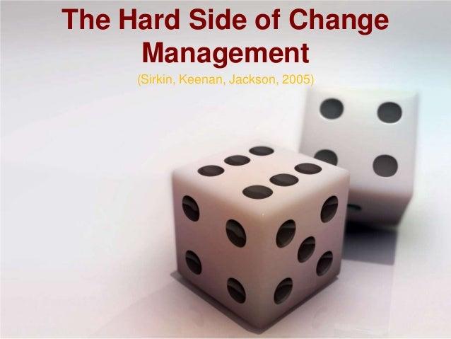 the hard side of change management pdf